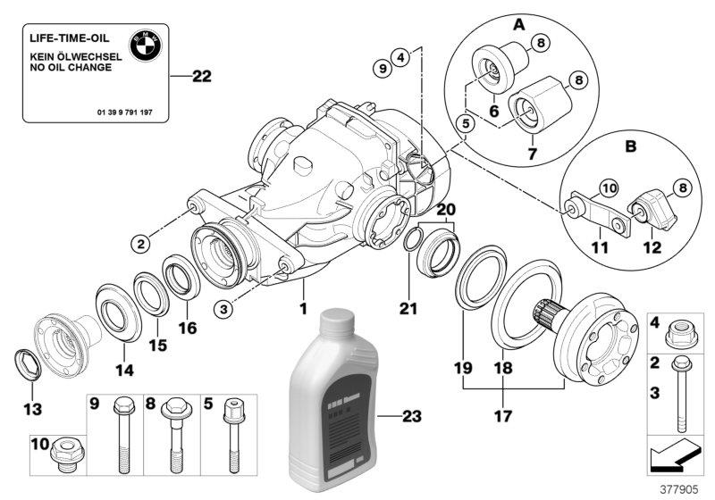 BMW 135i Dust guard ring, inner. D=60. Drive, OUTPUT, Rear