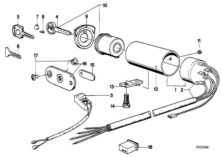 BMW 633CSi Steering lock. Switch, Suspension, IGNITION