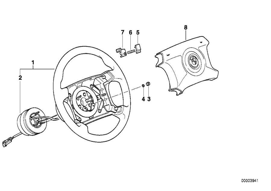 BMW 850CSi Thrust adapter. Wheel, Steering, Airbag