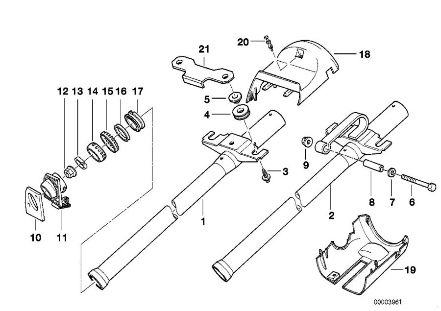 BMW 318is Ring antenna adapter. Steering, column, carrier