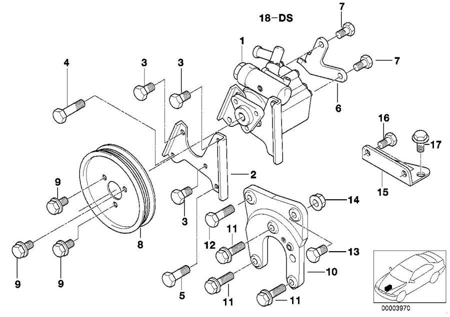 BMW 528i Power steering pump. LUK LF-30. Suspension