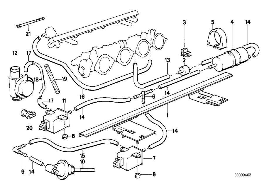 BMW M5 3.6 Vacuum hose. 2X4. Heater, Conditioning, Air