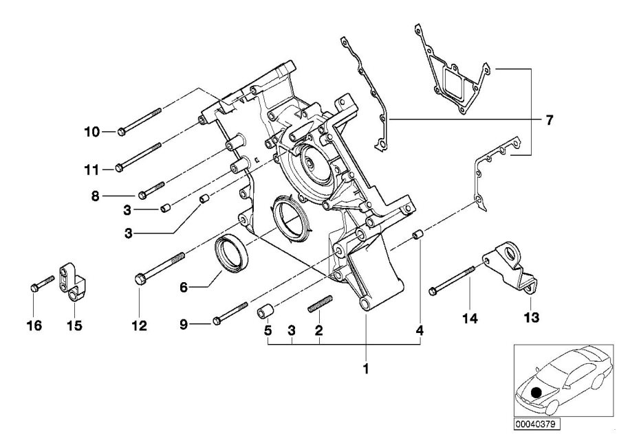 BMW M5 Hex bolt with washer. M6X65-Z1. Engine, Control