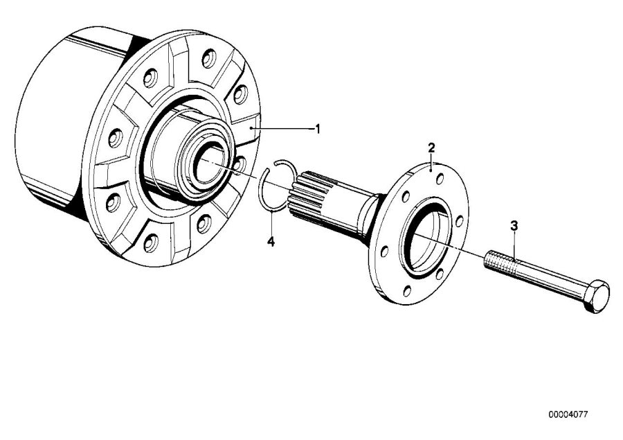BMW 530i Drive flange output. Differential, Suspension