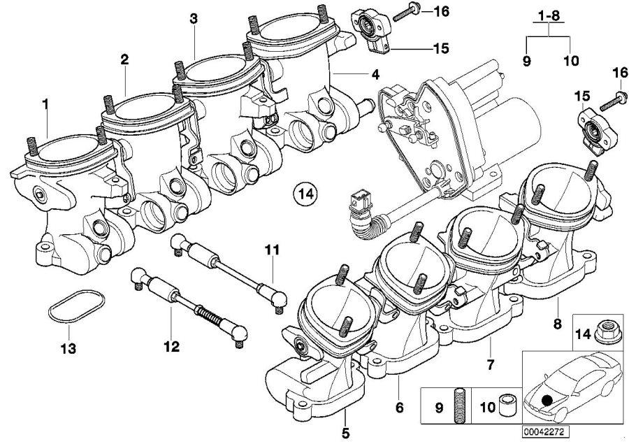 BMW M5 Throttle Housing Assy. Fuel, Cylinder, Applies