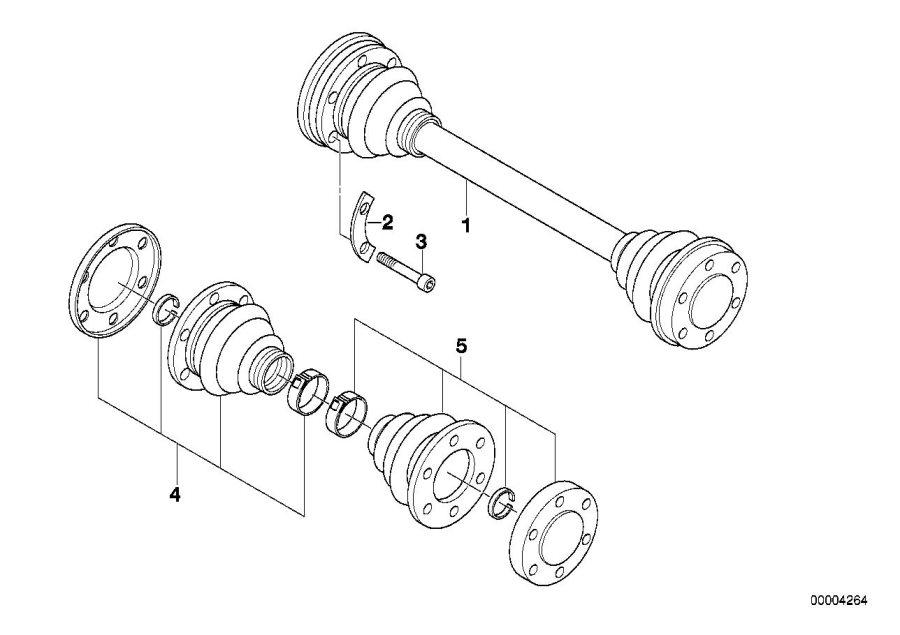 BMW 320i Fillister head screw. M8X55. Shaft, Output, Zyl