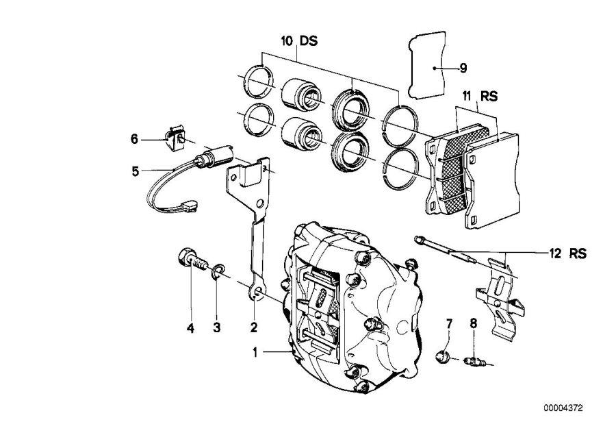BMW 530i Ventilation valve. Brake, Front, Bavaria