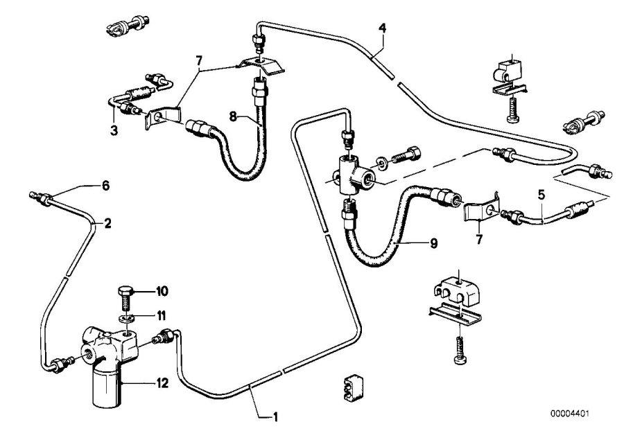 BMW 320i Brake hose rear. L=222MM. Bavaria, Zyl, Pipe