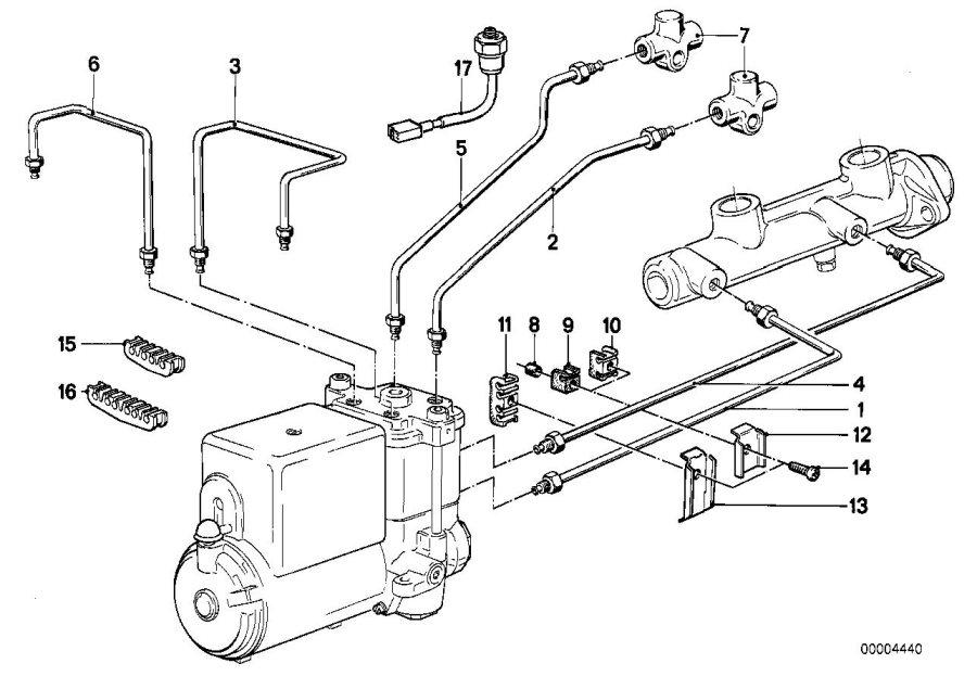 BMW M5 Screw, self tapping. Pipe, Brake, Fuel