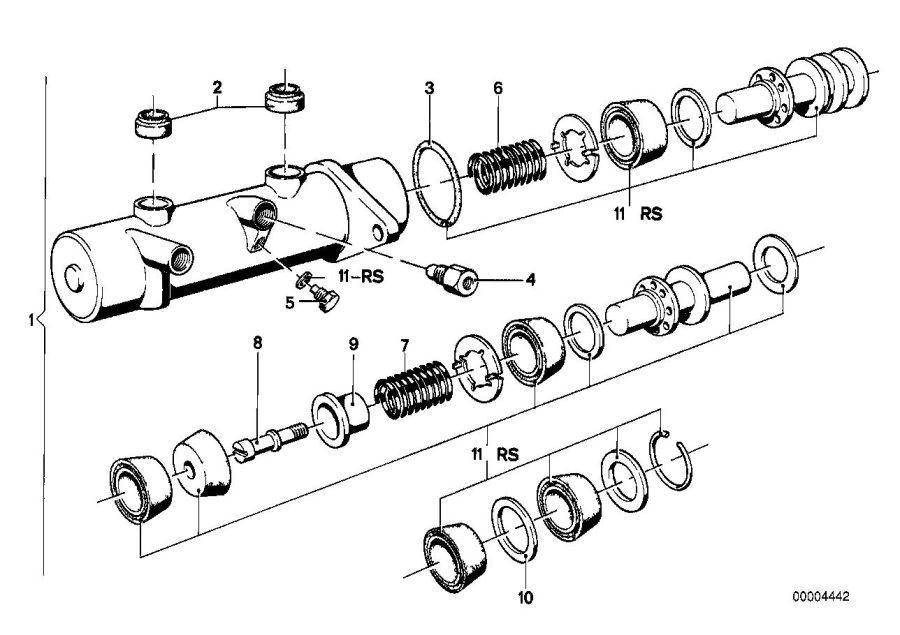BMW 320i Pre-pressure valve. Brake, master, cylinder