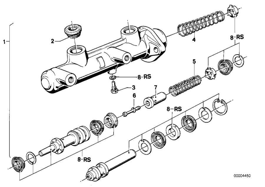 BMW 733i Repair kit brake master cylinder. Brakes