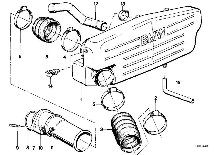 BMW M6 Intake tube. System, Silencer, Cartridge