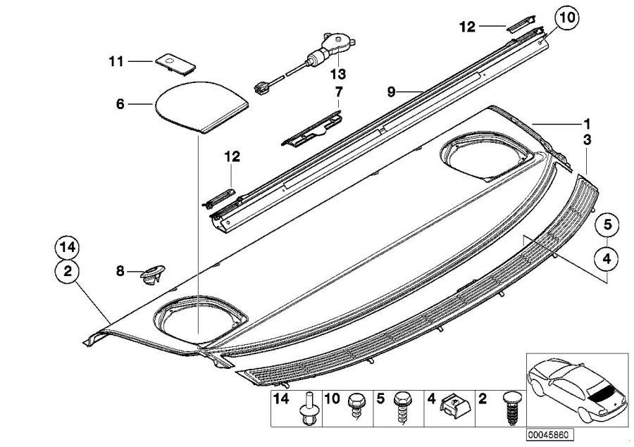 BMW 325xi Roller sun screen. Body, Interior, Equipment