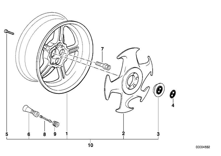 BMW 840Ci Alloy rim, forged. 8JX17 ET:10. Wheels