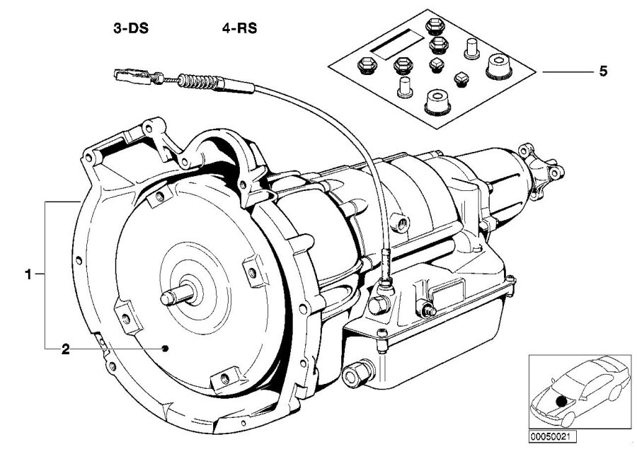 BMW 533i Repair set ax-bearing. 3hp22. Transmission