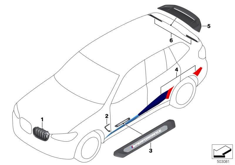 BMW X3 Adhesive 1K. 50 ML. Aerodynamic, Spoiler