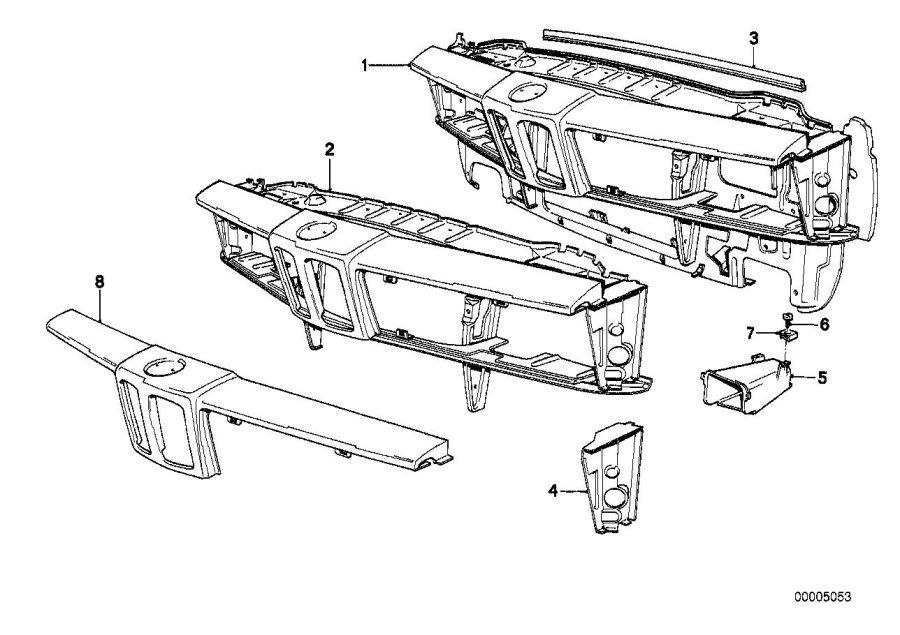 BMW M6 Front apron upper part. Body, trim, panel