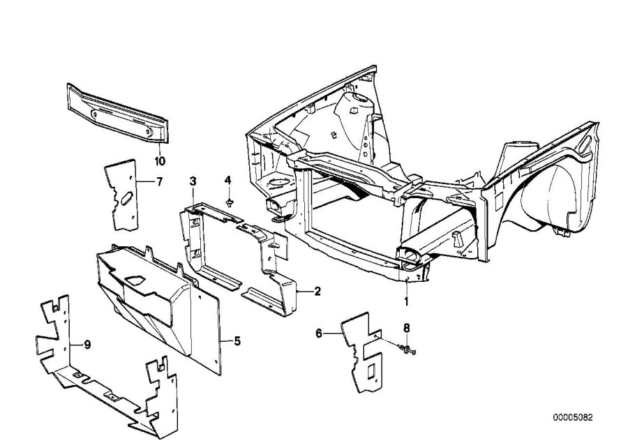 BMW 318i Air intake tube left. Body, front, trim
