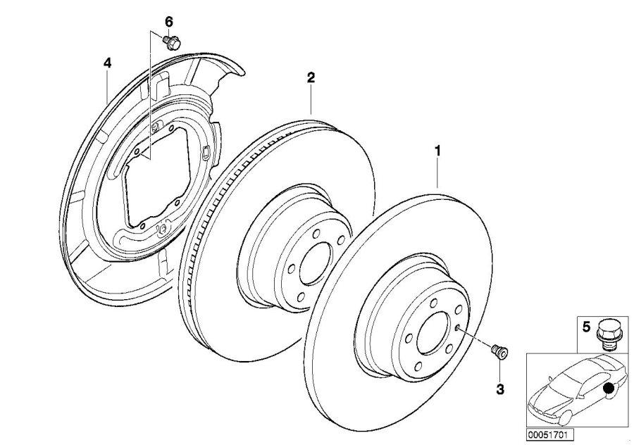BMW Z4 Brake disc, ventilated. 294X19. Brakes, Service