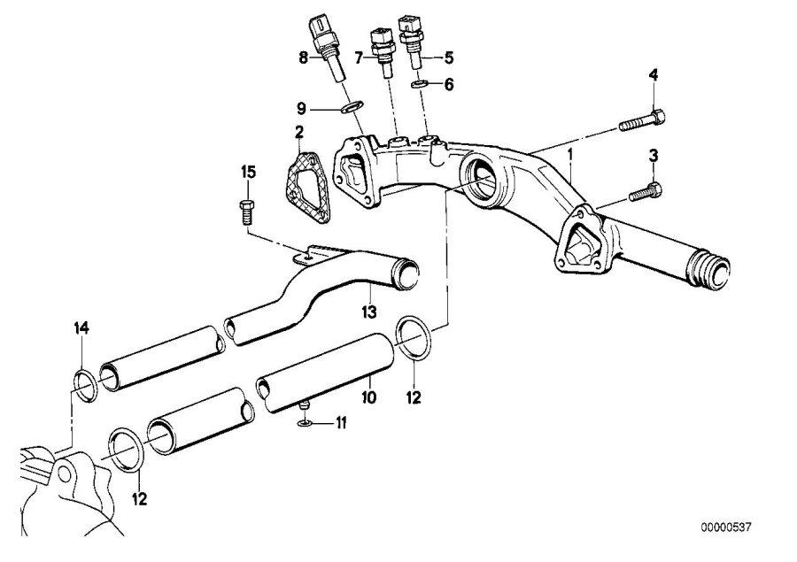 BMW 850CSi Temperature sensor, water. M14X1, 5. System