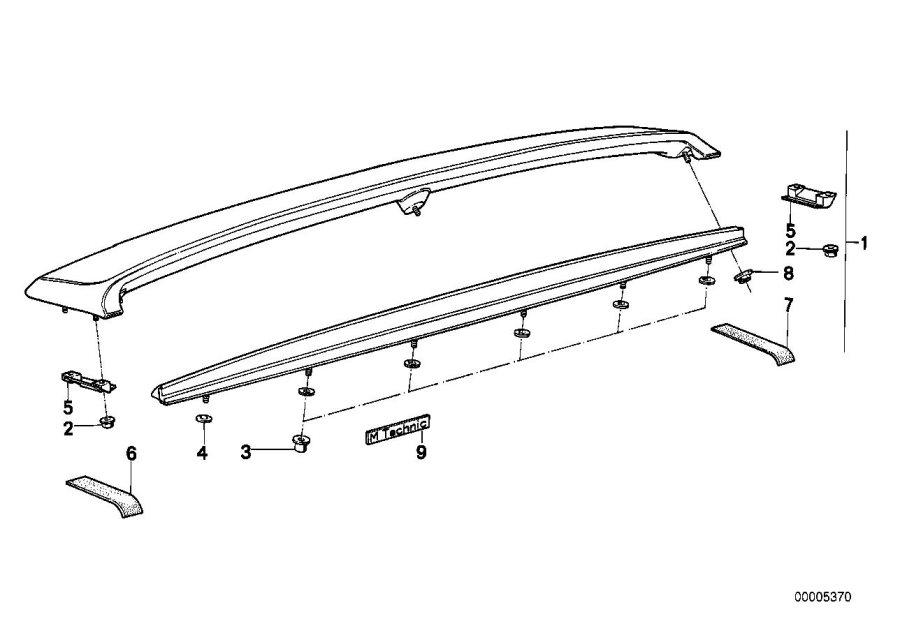 BMW 318i Stick-on label. M TECHNIC. Trim, Body, Arch