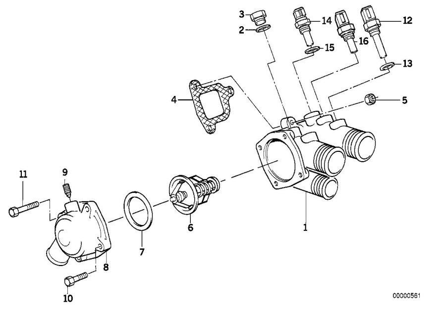 BMW 735i Temperature sensor, water. M14X1, 5. System