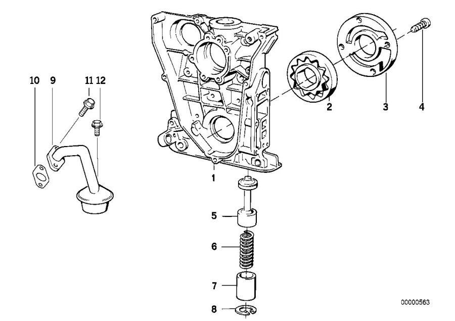 BMW 318ti Intake manifold. Lubrication, System