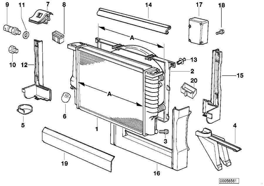BMW 740iL Drain plug radiator. M10. Engine, Cooling, FRAME