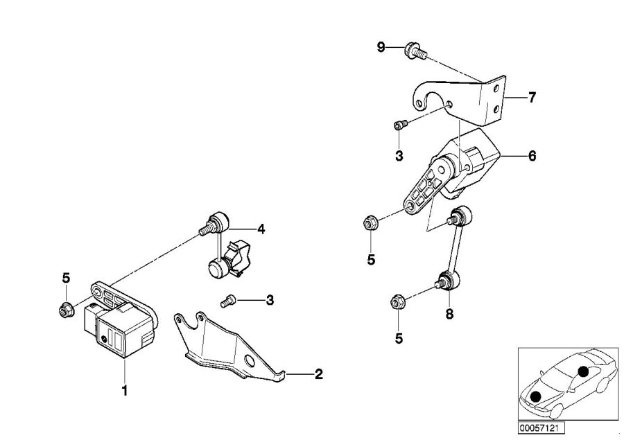 BMW 740iL Rear angle joint. Suspension, axle, alpina