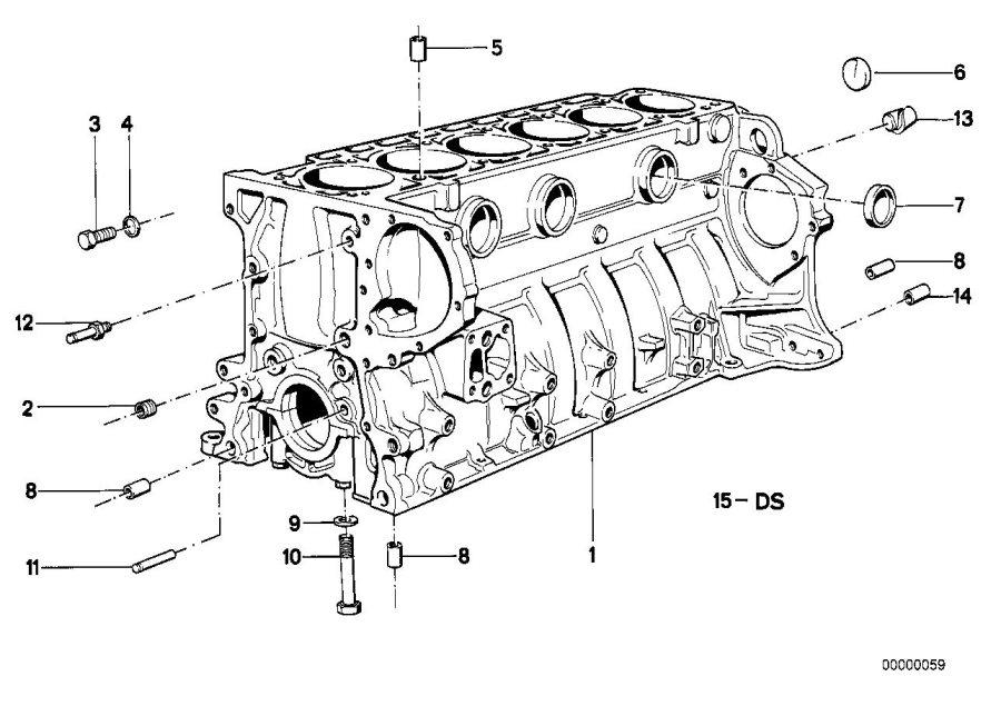 BMW 635CSi Dowel. D=14, 5/11, 0MM. Mounting, HOUSING
