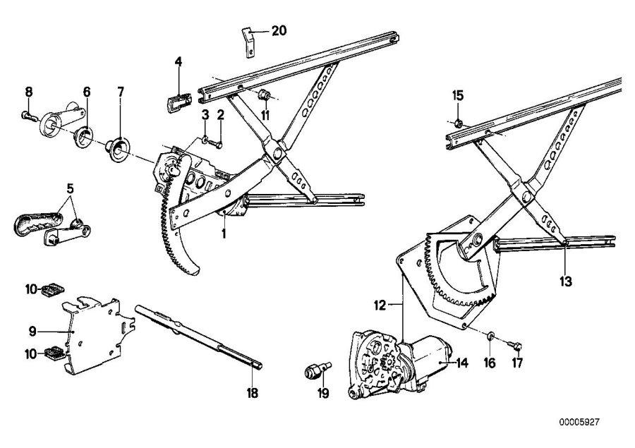 BMW 535i Emergency tool electr.window. Lifting, jack, kit