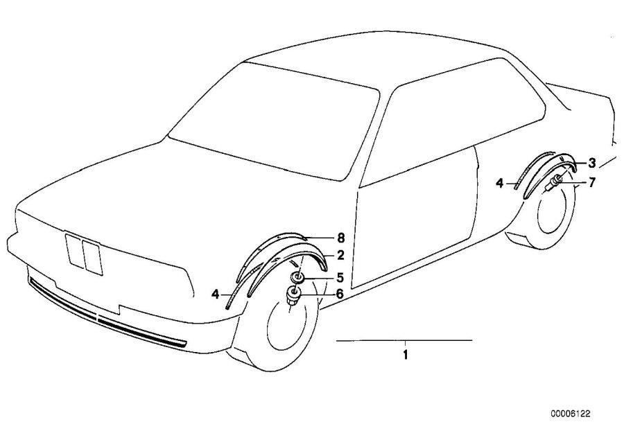 BMW 635CSi Template right. M TECHNIC. Trim, Exterior, Body