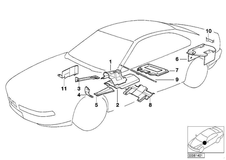 BMW 840Ci Heat resistant plate. Insulation, Trim, Body