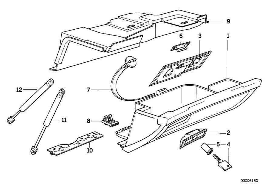 BMW 750iL Rep.kit f lock cylinder. Glove, Box