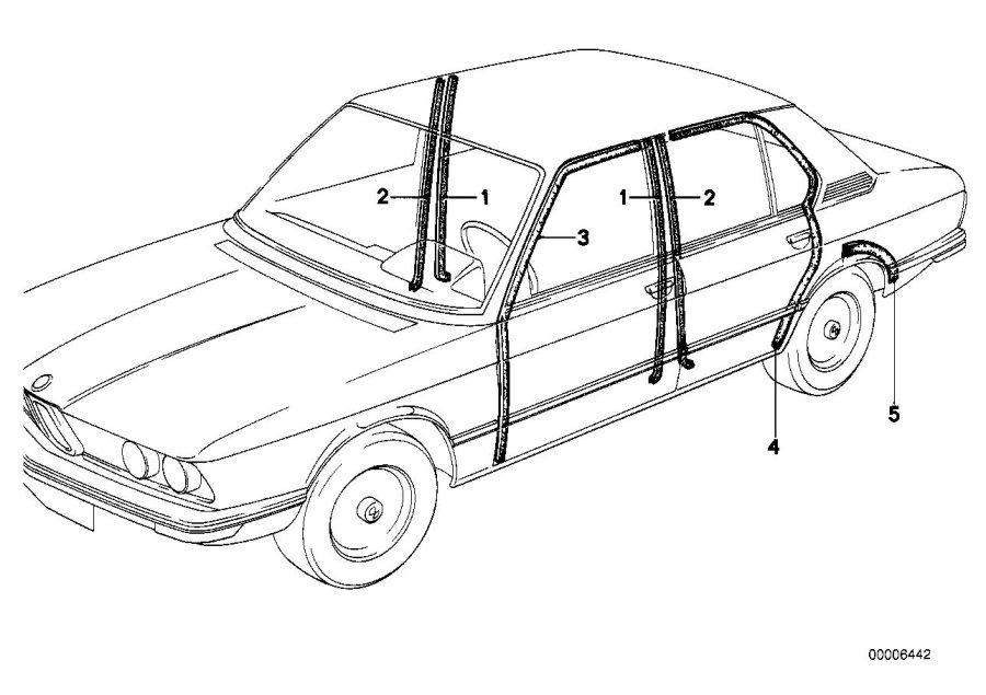 BMW 528i Edge protection. Trim, Body, Bavaria