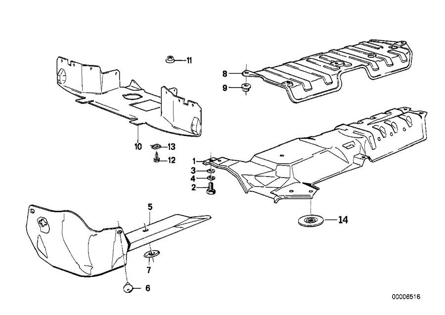 BMW 325e Engine compartment screening. Body, Insulation