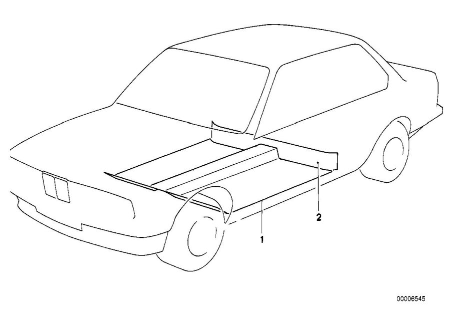 BMW 318i Covering seat carrier. Schiefer. Body, equipment
