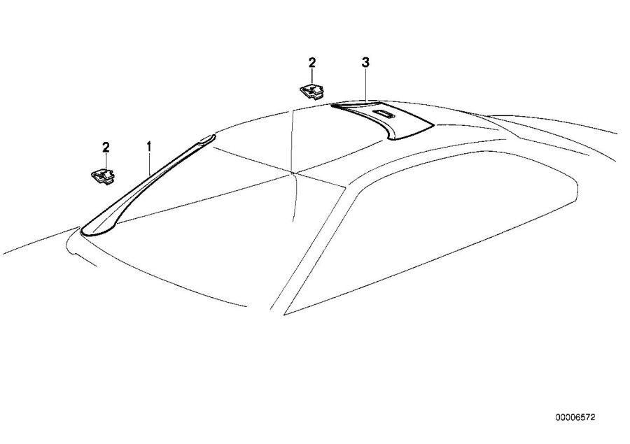 BMW 840i Covering apron right. Schwarz. Interior, trim