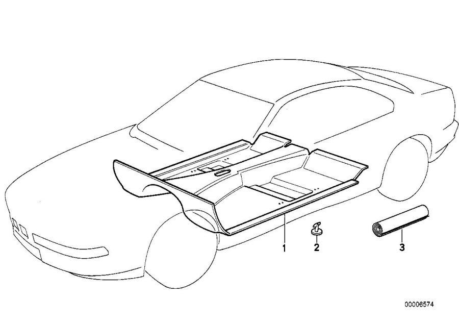 BMW 840i Floor covering. Anthrazit. Body, interior