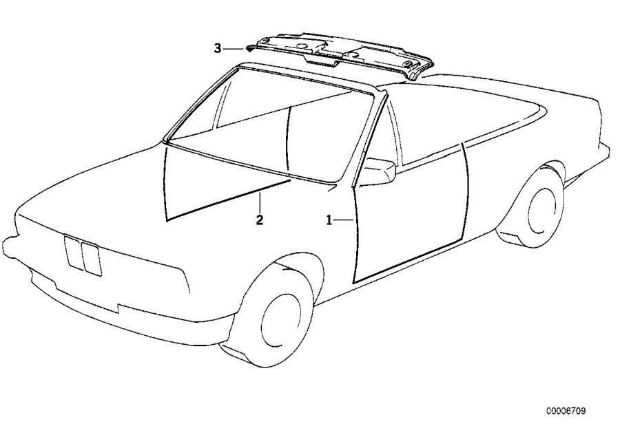 BMW 318i Front headlining cover. Body, interior, equipment