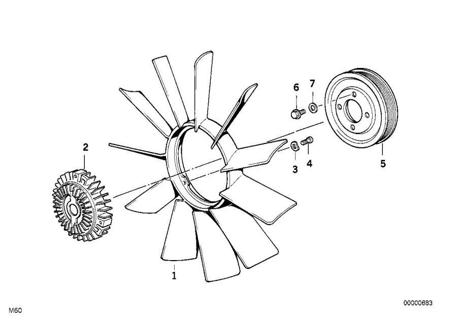 BMW Z3 Fan 11 blade. D=420MM. Engine, Cooling