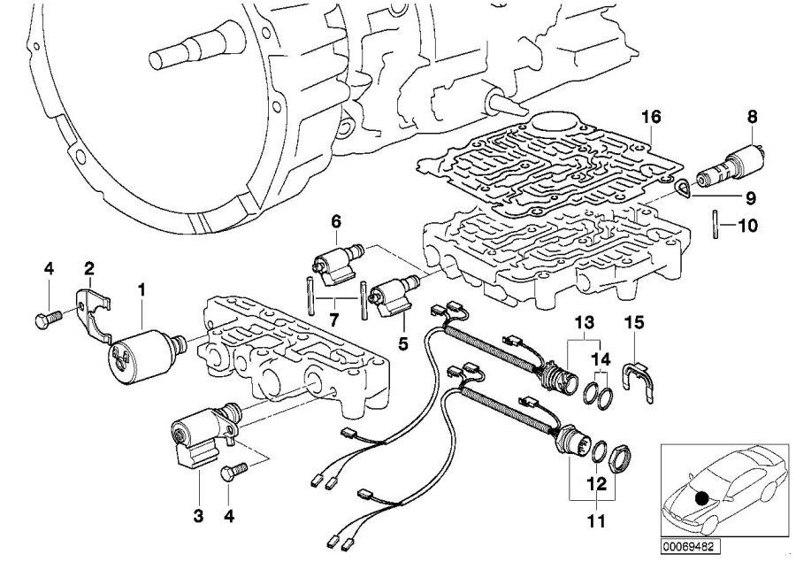 BMW Z3 Pressure regulator solenoid valve kit. Transmission