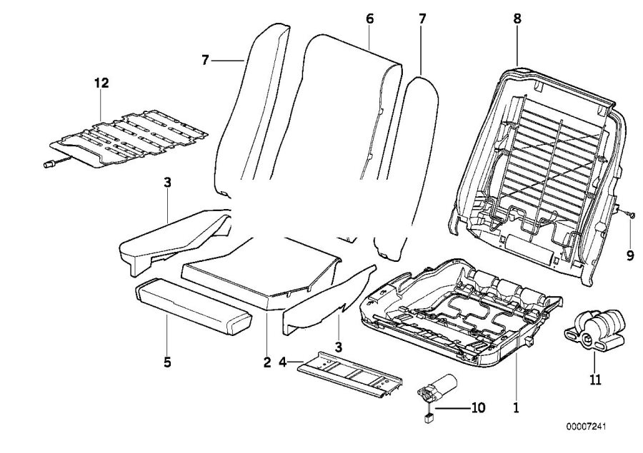 BMW 840Ci Sensor mat co-driver's seat identif. Airbag