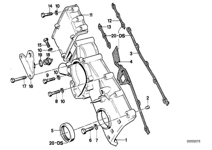 BMW 318i Asbestos-free gasket set cover. Engine, zyl