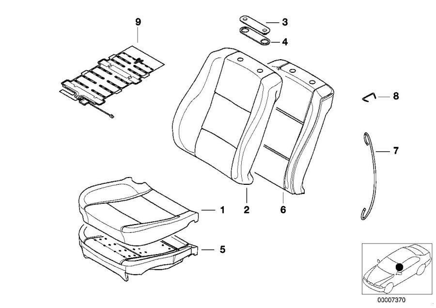 BMW 525i Sensor mat f co-driver's seat identif. Airbag