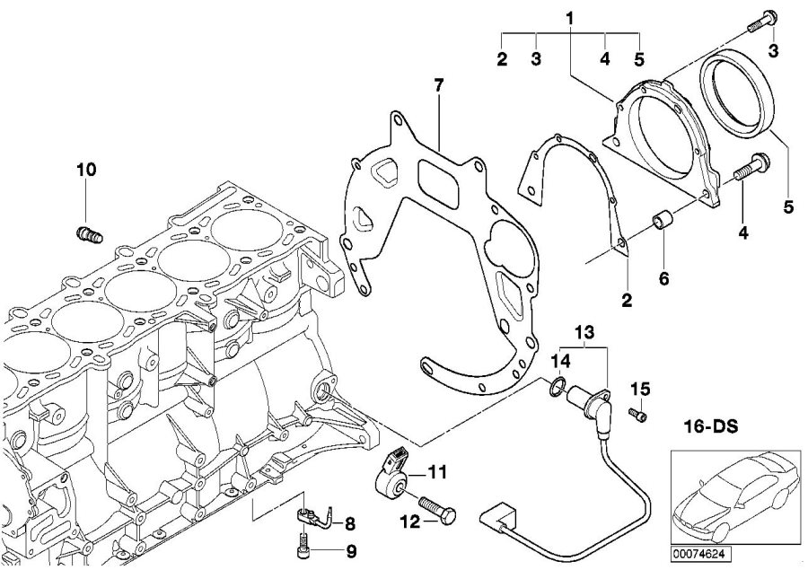 BMW M3 Oil Spraying Nozzle. Engine, Mounting, Housing