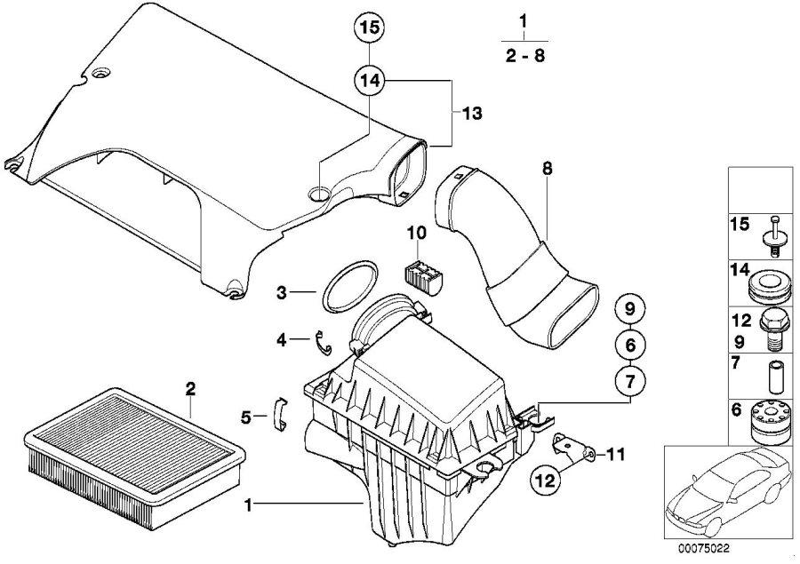 BMW X5 Intake manifold. Silencer, System, Fuel