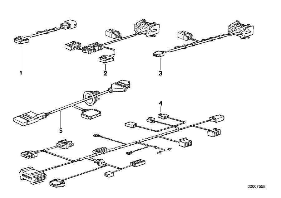 BMW 530i Wiring set f independent ventilation. Applies