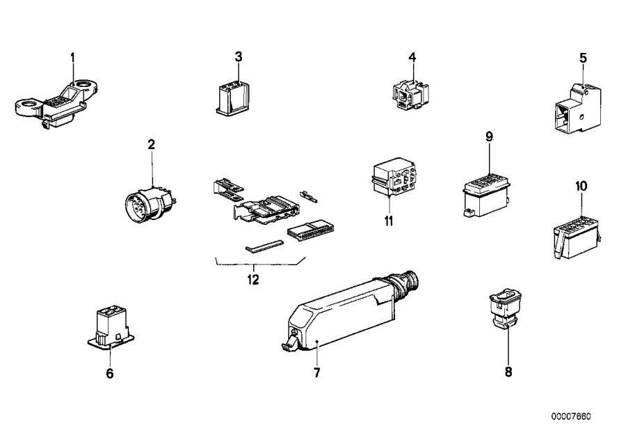 BMW 630CSi Plug terminal for fuse box. Wiring, electrical