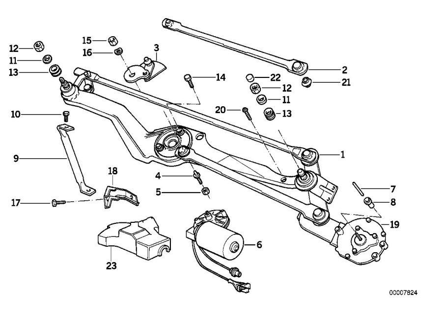 BMW 840Ci Damper ring. Wiper, system, electrical